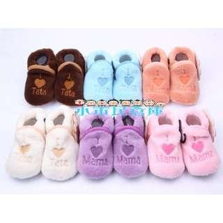 小市民倉庫-嬰兒珊瑚絨保暖鞋-學步鞋-防滑鞋-室內鞋-棉鞋-棉套襪子-寶寶保暖鞋-8款可選