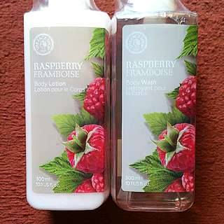 Faceshop Raspberry Framboise Body Lotion and Wash