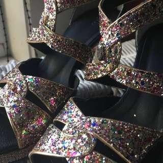 PRICE DROP Glitter heels