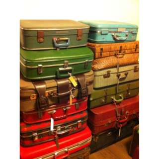 vintage luggage bags for sales