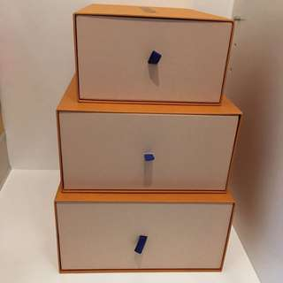 LV shoe boxes  x 3 pcs