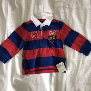 Mothercare Baby boys rugby shirt