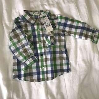 Benetton boys long sleeve shirt