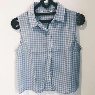 Colorbox baby blue sleeveless shirt