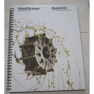 Mobil Checkered Notebook