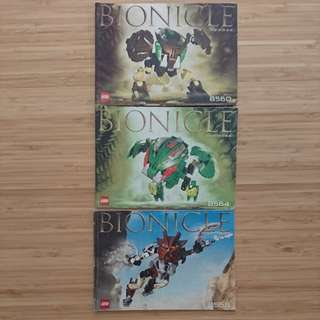 RARE Bionicle Instructions Booklets
