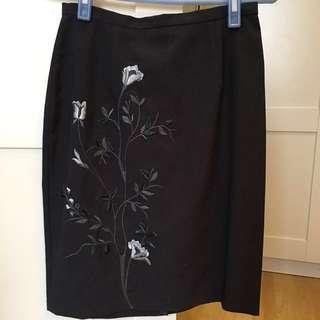 🚚 Theme刺繡西裝裙