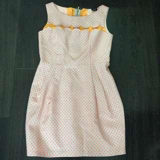 Iroo Orange polka dot dress