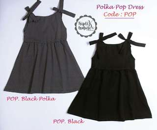 Polka pop dress