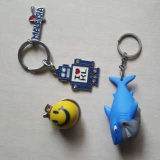 Shark+face+robot keychain