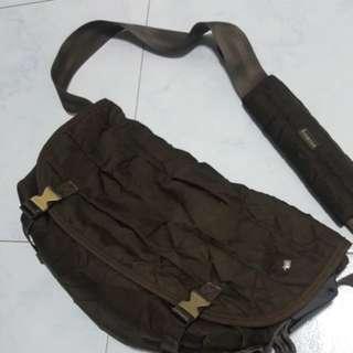 International Porter Messenger/Sling Bag (Dark brown)