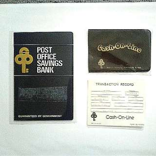 POSB Pass Book / Cash On Line Pouch & Transaction Record
