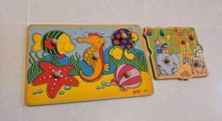 Goki and Chelona Peg Boards / Peg Puzzle Clearance