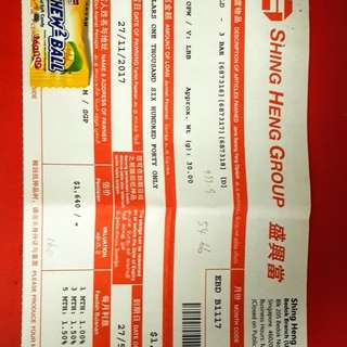 PAWNTICKET AVAILABLE FOR SALE