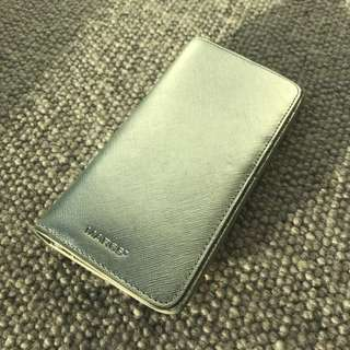MARCS genuine leather wallet silver