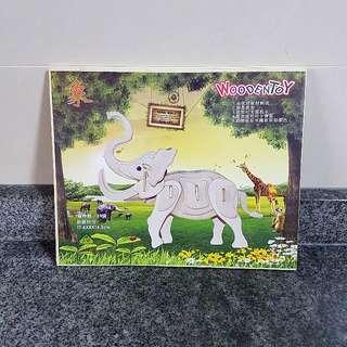 3D Wooden Puzzle - Elephant.