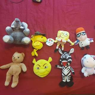 Soft Toys - 1 for $2, 4 for $6