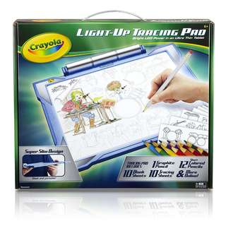Crayola Light-up Tracing Pad - Blue, Coloring Board for Kids, Gift, Toys for Boys, Ages 6 Up