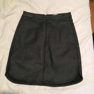 Supre Black Leather Skirt