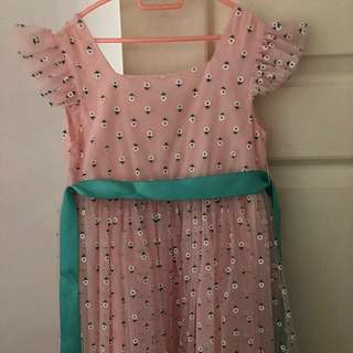 Used Pink dress with White Flowers