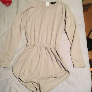 Misguided Beige Playsuit