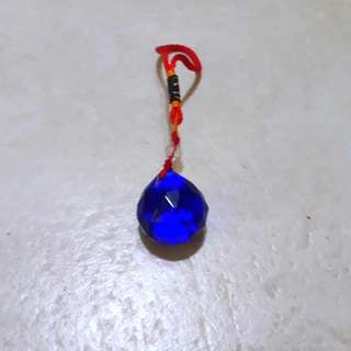 Blue color Multi-faceted crystal ball 32mm (2 left)