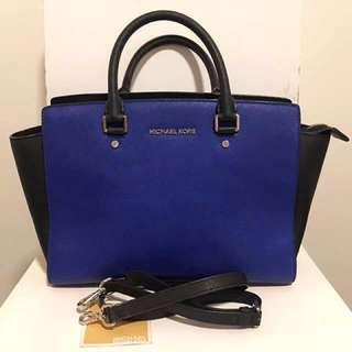 Michael Kors Blue/Black Selma Bag
