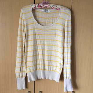 Forever 21 Knitted striped long sleeve top