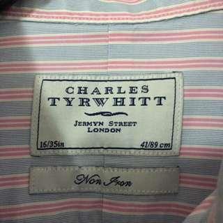 Preloved Men's Charles Tyrwhitt Dressshirt