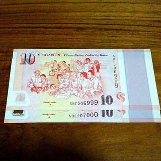 NICE SG50 COMMEMORATIVE NOTE 2 RUNS