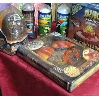 4D Puzzle  Package plus Dino Volcano