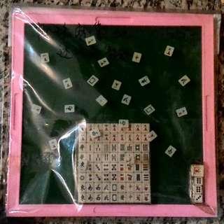 $40 迷你麻雀 旅行麻將 + 麻將板 marjong
