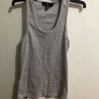 Missguided grey racerback singlet