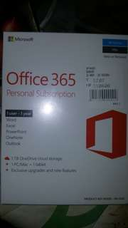 MICROSOFT OFFICE PERSONAL SUBSCRIPTION