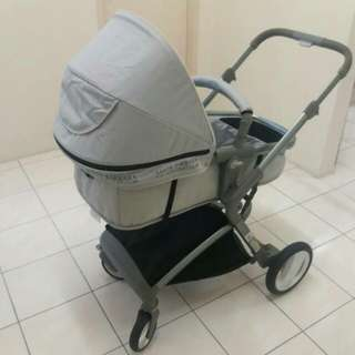 'SANTA BARBARA' stroller. Model J988 Light Grey.