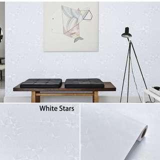 3D Embossed Stars Contact Paper/Wallpaper (Self-Adhesive)