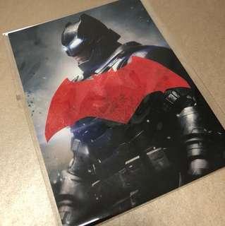 Batman vs Superman Postcard & Stamp