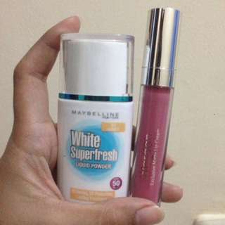 MAYBELLINE LIQUID POWDER & WARDAH