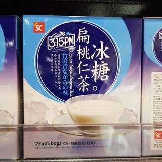 ✈大玩台灣代購✈台灣三點一刻冰糖扁桃仁茶5入/盒
