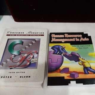 Consumer Behavior  & HR Management Books