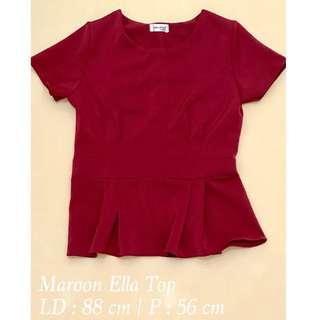 Maroon Ella Top