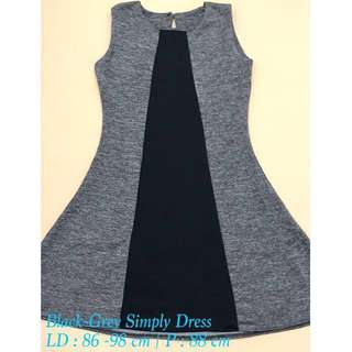 Black-Grey Simply Dress