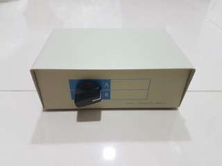 Data transfer switch device. To toggle between two wired network.