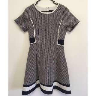Dotti Navy & White Dress - Size 10
