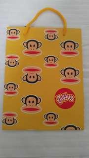 Paul Frank 正版黃色紙袋(私人珍藏)
