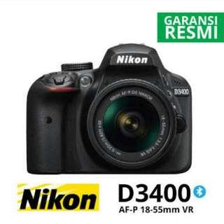 Nikon D3400 DSLR 18-55mm Kredit Mudah Praktis