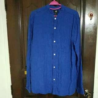 Blue Linen Mens Shirt