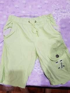 Miki kids green shorts