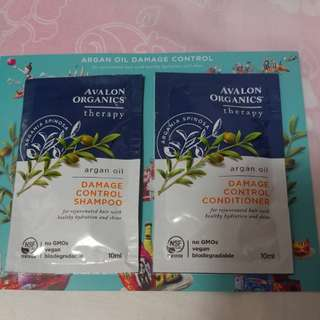 Avalon organics ~ damage control shampoo and conditioner (10ml)