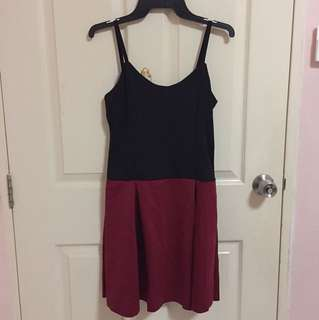 Black & Maroon Dress